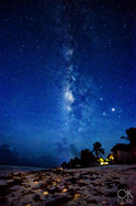 night photography, milky way and stars at the beach, tulum, mexico