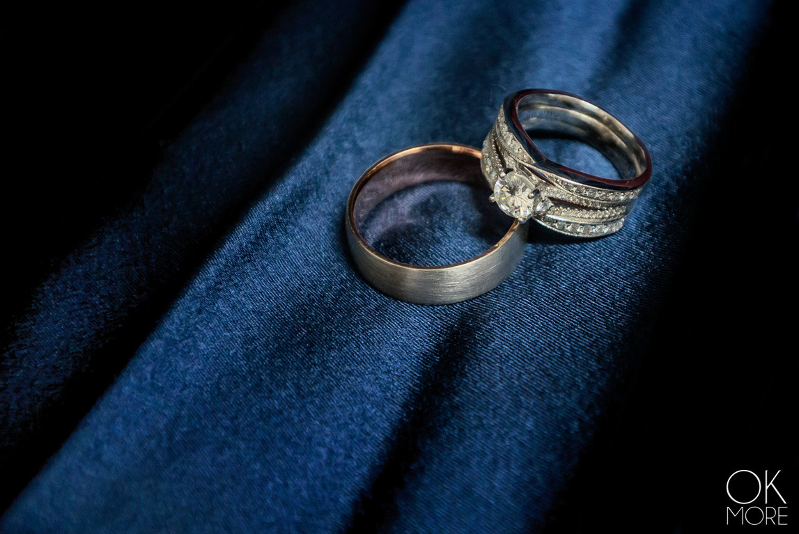 Wedding photography: event details, rings shot