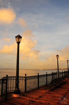 Travel photography destination California: san francisco landscape, downtown bay area, pier at sunset