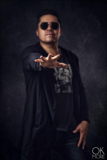 Musician photography. Studio Portrait of Gio Ortega