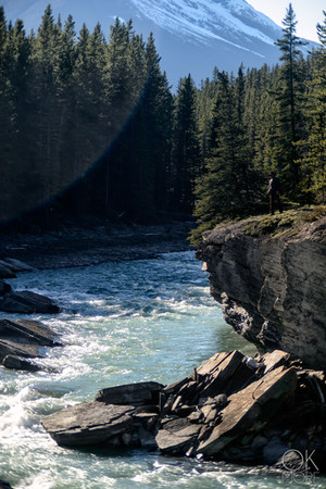 Travel photography, destination Canada Rockies, river and forest