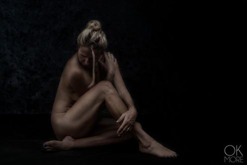 Fine art portrait, nude, studio