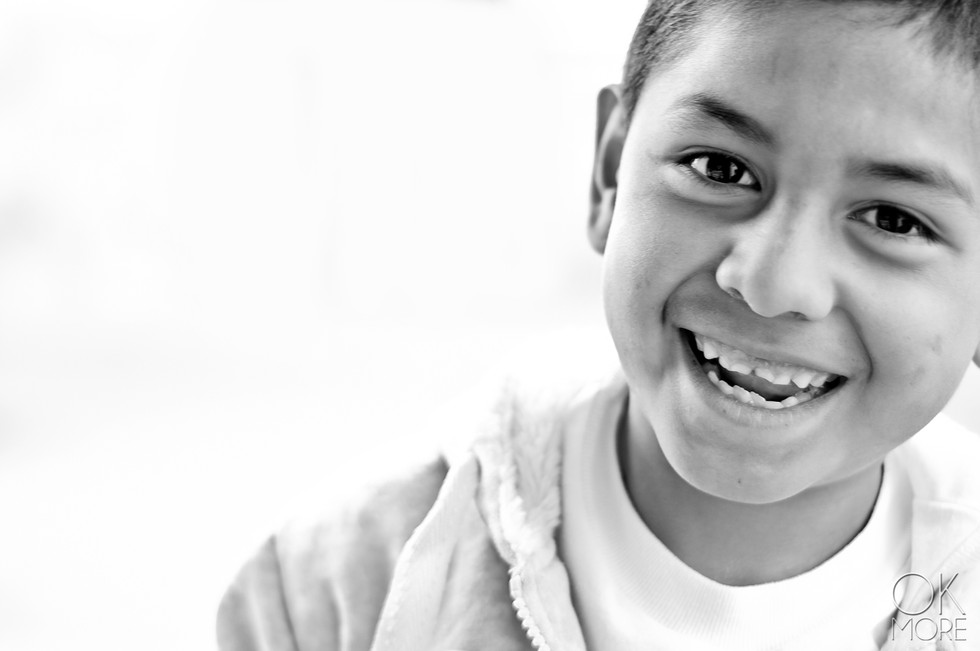 Portrait of a boy in black and white, children photography