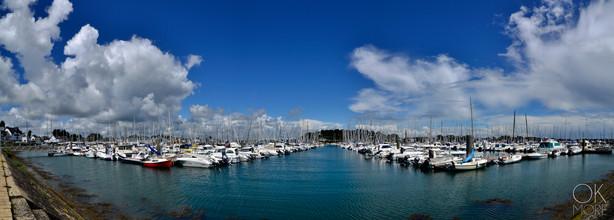 Travel photography destination France: Bretagne trinite sur mer sailboats marina port morbihan