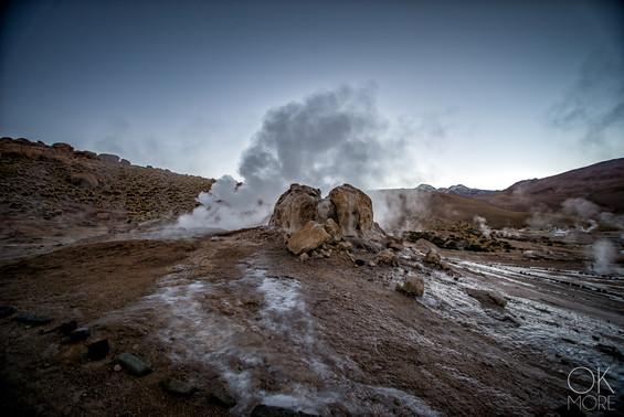 Landscape photography, Atacama desert, Chile, tatio geysers, volcano