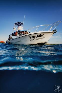 Commercial photography: scuba dive boat, caribbean ocean
