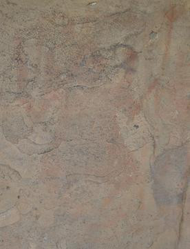 "An eroded painting in the Bhimbetka caves shows ""Nataraj"" dancing and holding a trishula or trident."