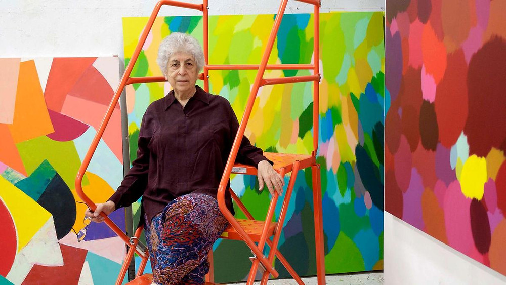 Samia Halaby in her studio. Courtesy of The National.