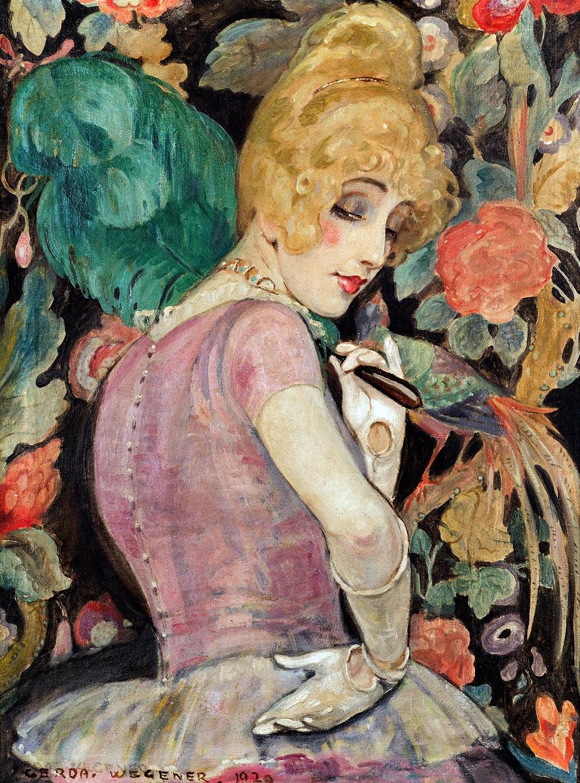Gerda Wegener, 'Lili with a Feather Fan', 1920