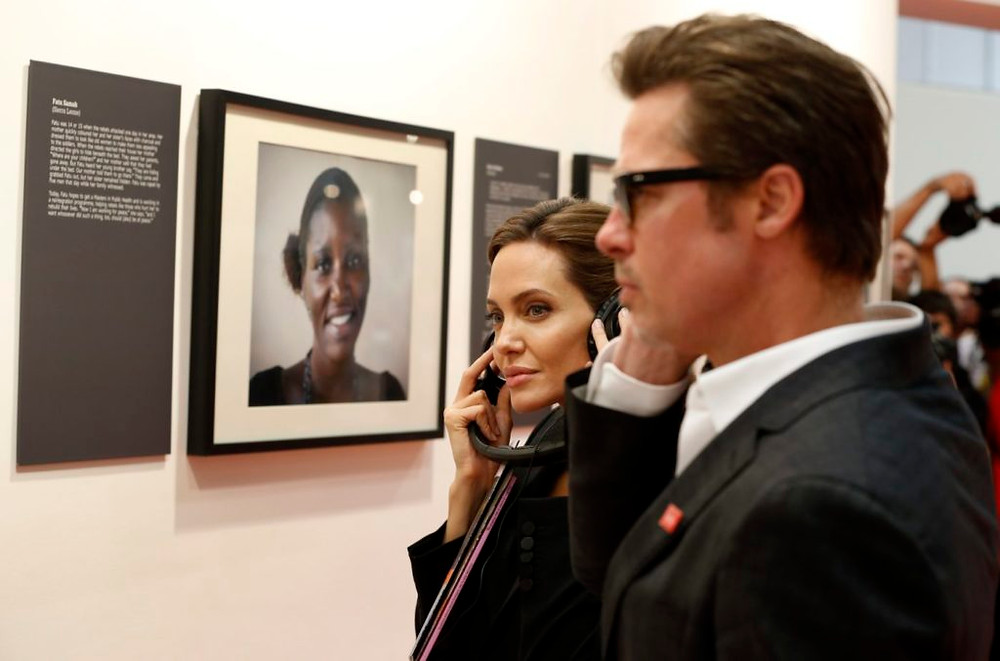 Angelina Jolie and Brad Pitt at a private art gallery,  Image credit: Artnet