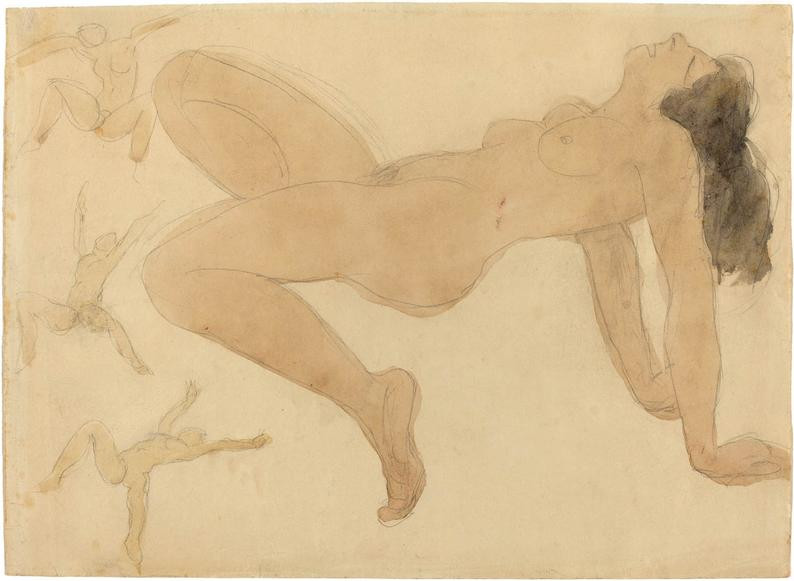 The Erotic Drawings of Auguste Rodin: Study of Nude Dancers, c. 1900.