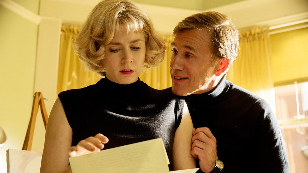 Amy Adams and Christoph Waltz in the movie, 'Big Eyes' by directed Tim Burton