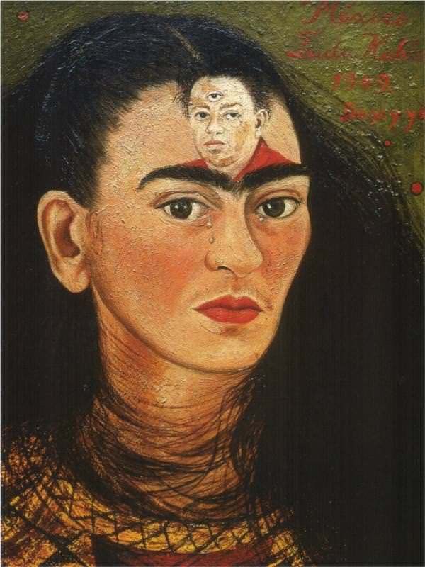 Frida Kahlo, 'Diego and I', 1949. Image courtesy:Medium