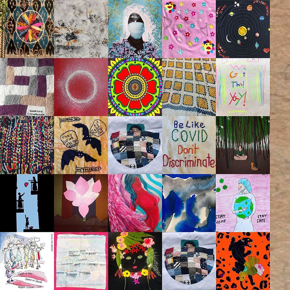 Collage of Artwork Submitted. Source: The Corona Quilt Project