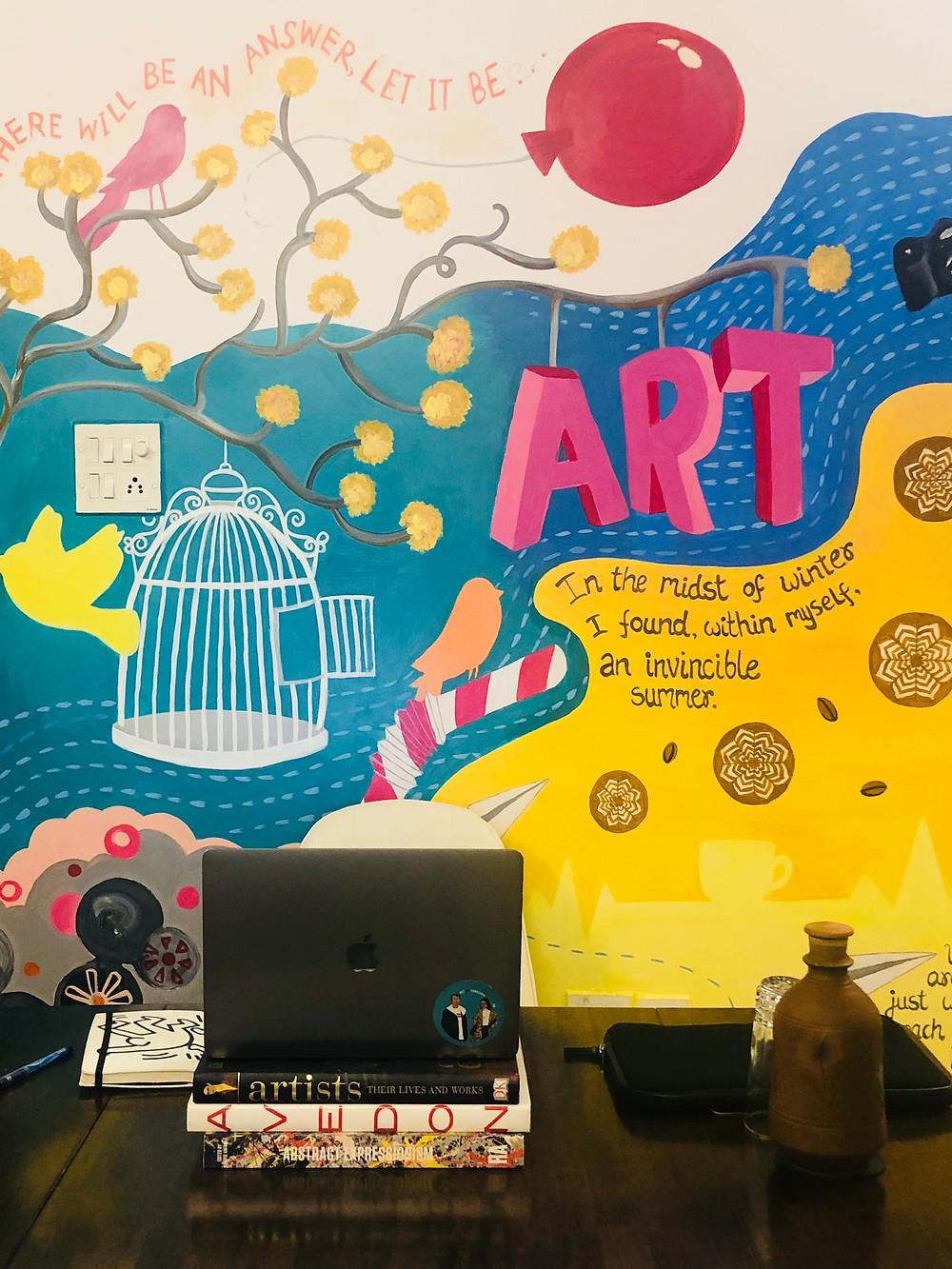The Art Fervour workspace, not just for millennials