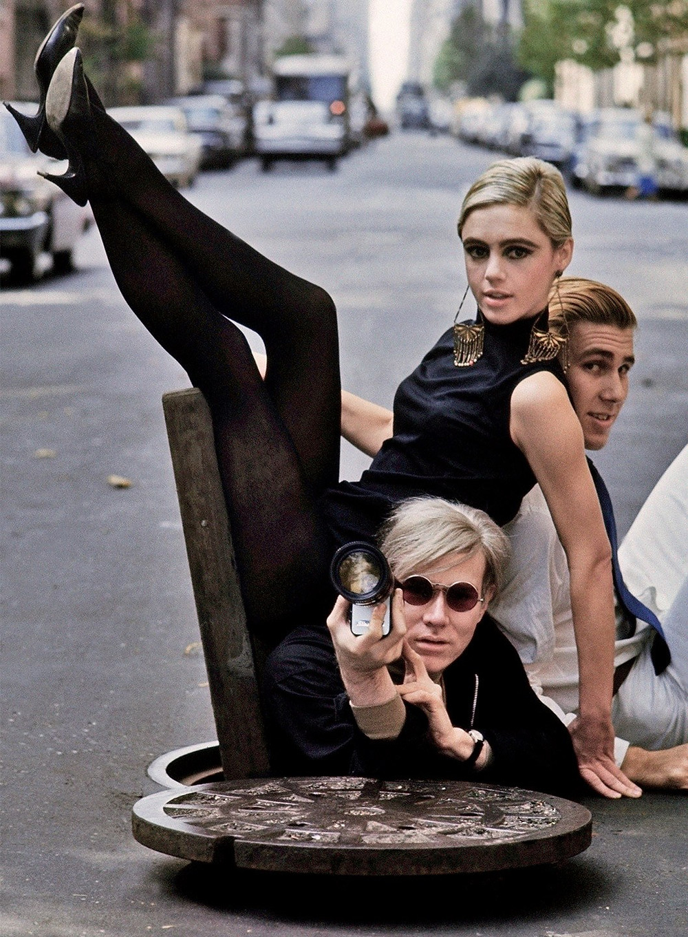 Edie Sedgwick and Andy Warhol on the cover of Vanity Fair Holiday 2017-18 issue