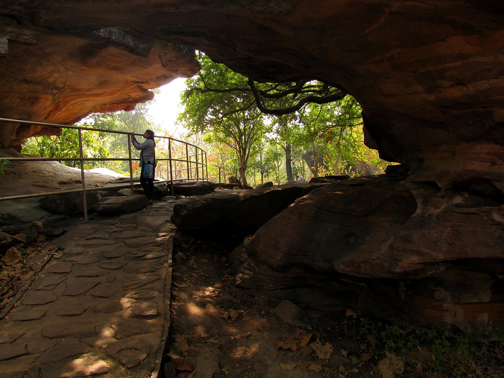 One of about 750 rock shelter caves at Bhimbetka.