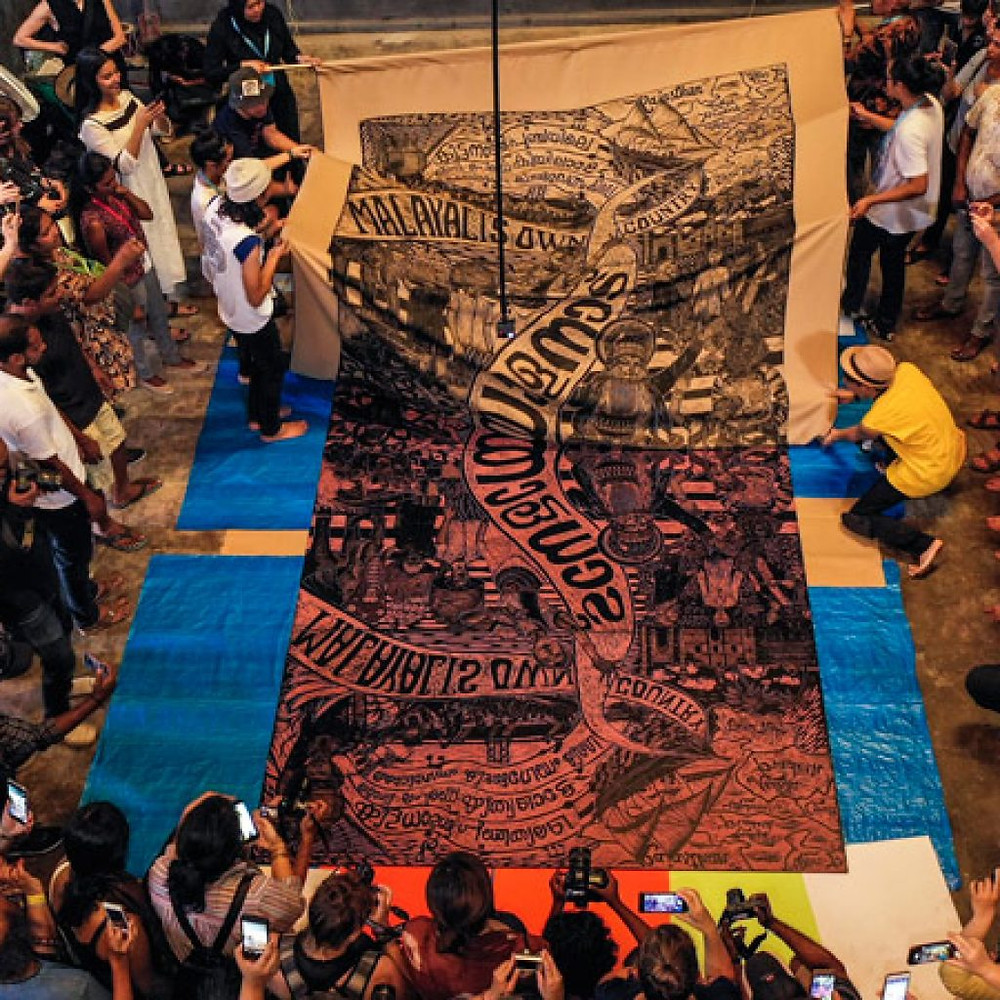 Unveiling large-scale Artwork by Pangrok Sulap