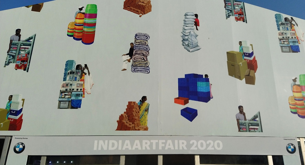 India Art Fair 2020 tent designed by Sameer Kulavoor