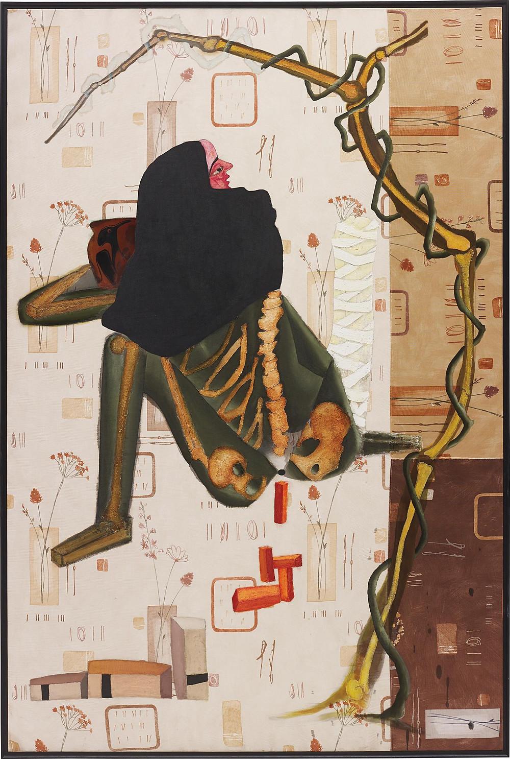Atul Dodiya, 'Woman From Kabul', 2001