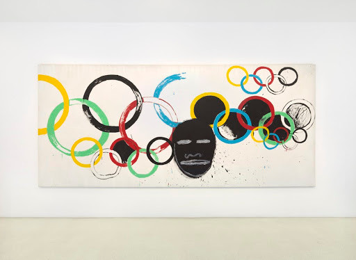 Olympic Rings, Andy Warhol and Jean-Michel Basquiat | Source: Gagosian