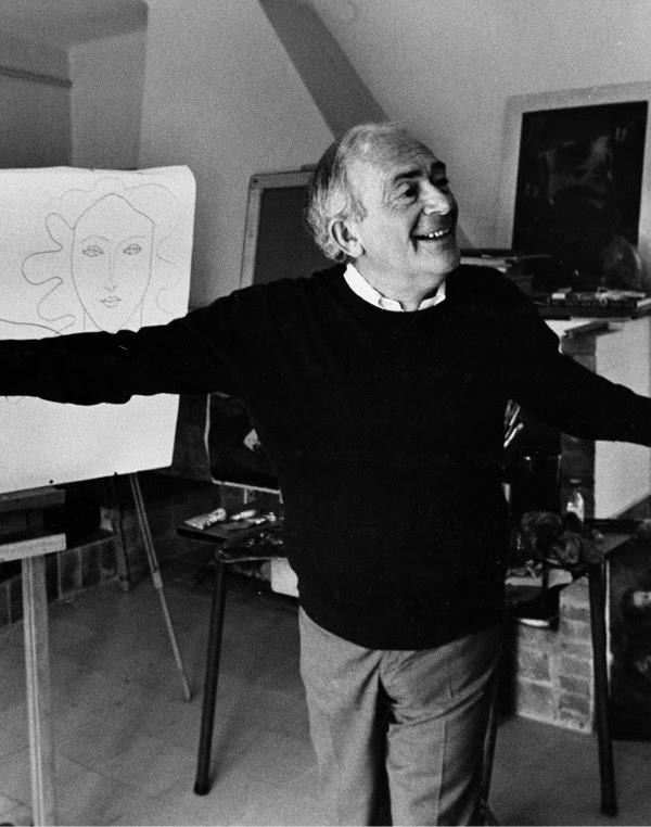 Elmyr de Hory in his studio, 1970 Image Credit: Artspace