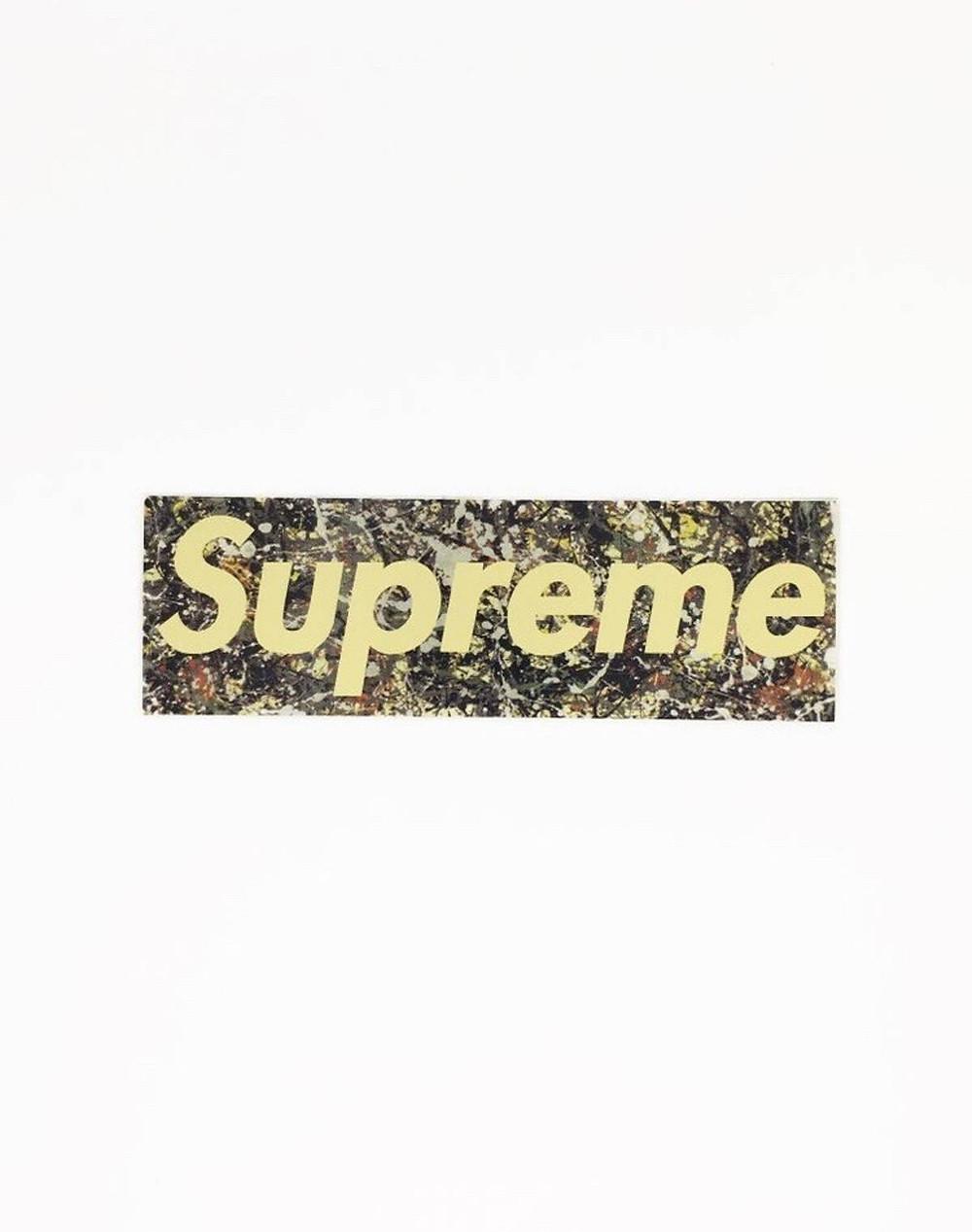 Supreme Box Logo feeat. Jackson Pollock Painting