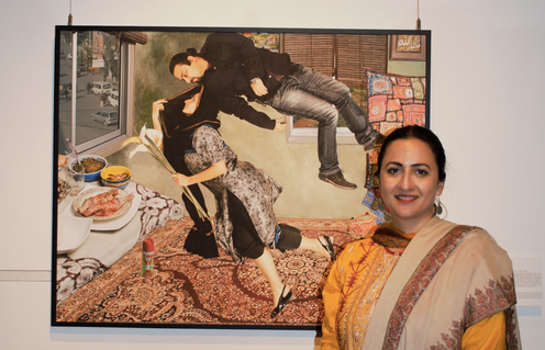 Amber Hammad, Unveiling the Visible. Image courtesy of Roushanasi/Facebook blog     'Young Pakistanis in Italy.'