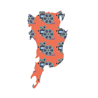 Illustrated map of mumbai