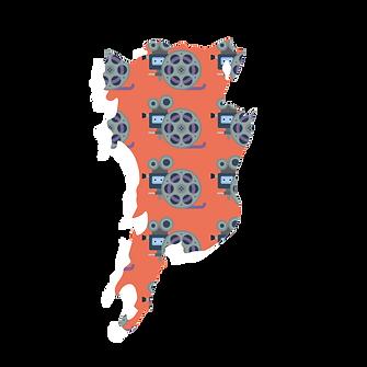 Illustrated map of Bangalore