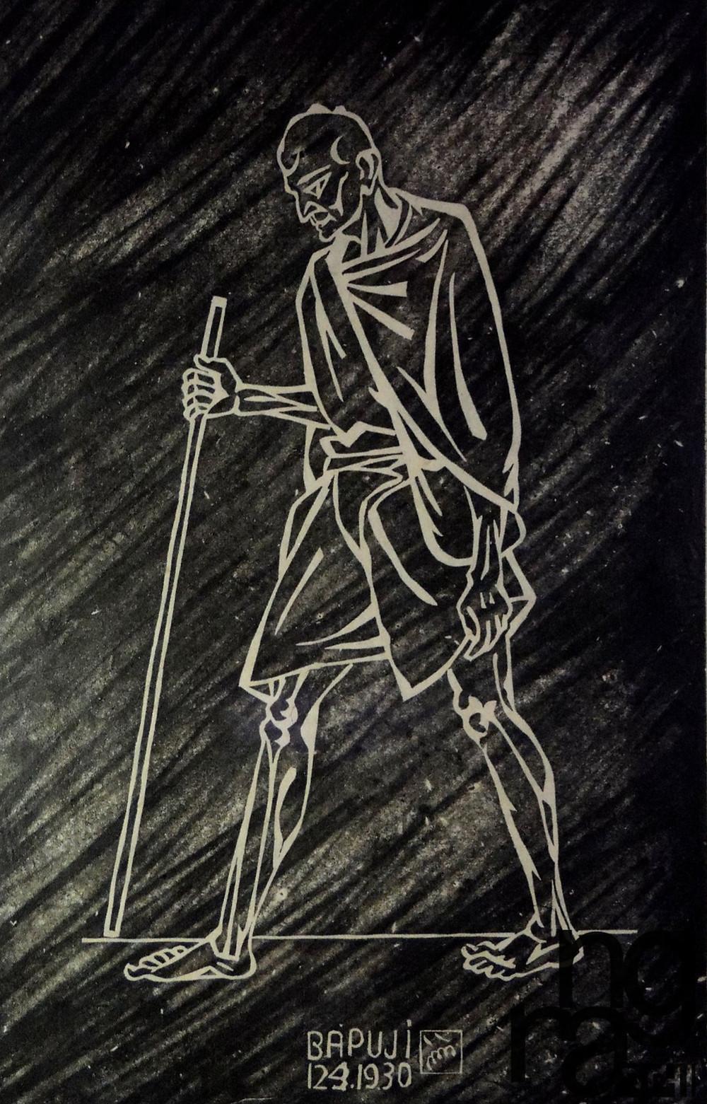 Nandalal Bose, 'Bapuji', 1930