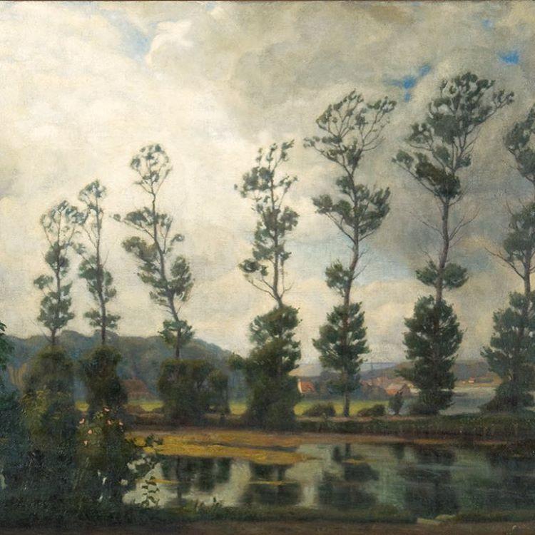 Einar Wegener, 'Poples along Hobro Fjord', 1908