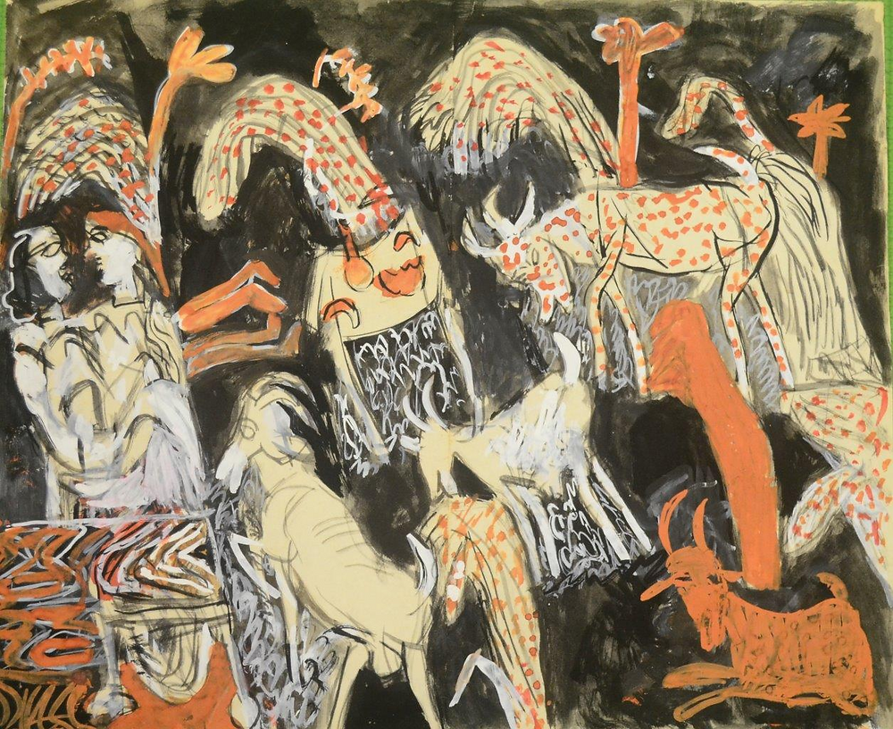 K.G. Subramanyan, 'Untitled', 1993