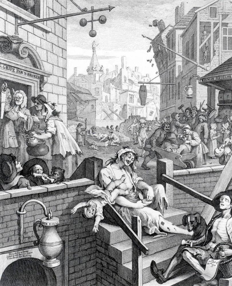 William Hogarth, 'Gin Lane', 1751