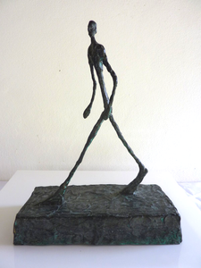 Sculpture in the style of Alberto Giacometti, created and signed by Robert Driessen
