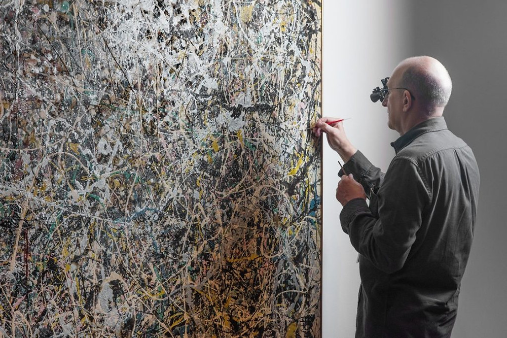 Conservation of Jackson Pollock's 'Number I', 1949