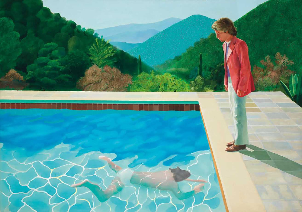 'Portrait of an Artist (Pool with Two Figures)' by David Hockney, most expensive painting sold by living artist