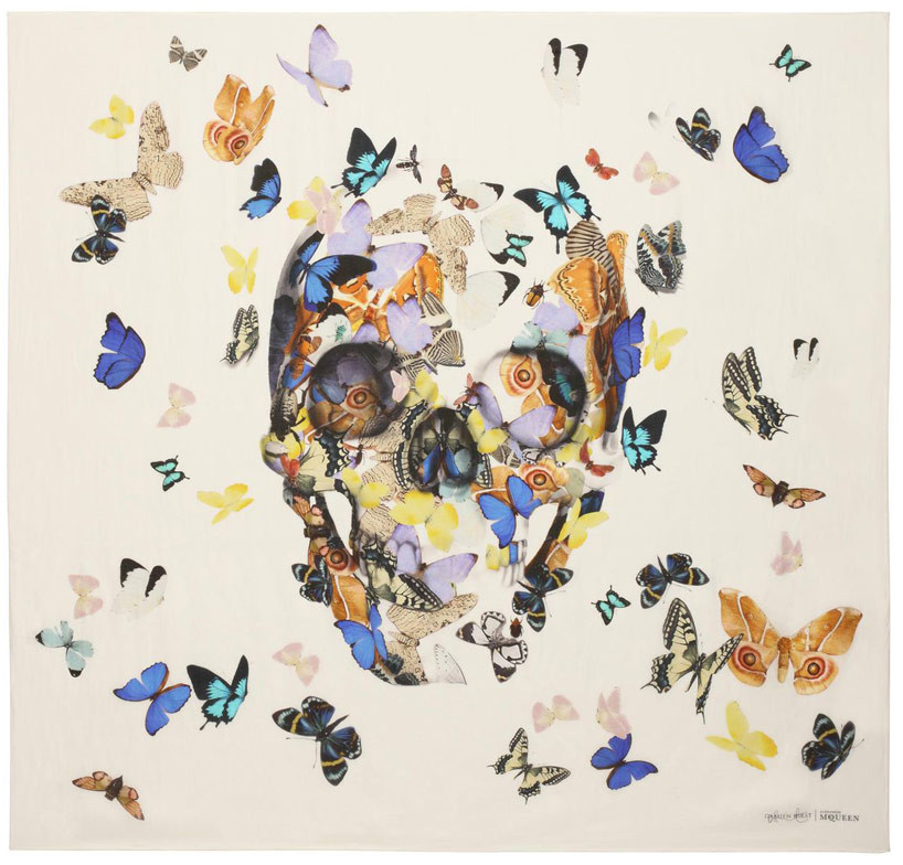 Jacob's Ladder Skull Scarf, Alexander McQueen and Damien Hirst