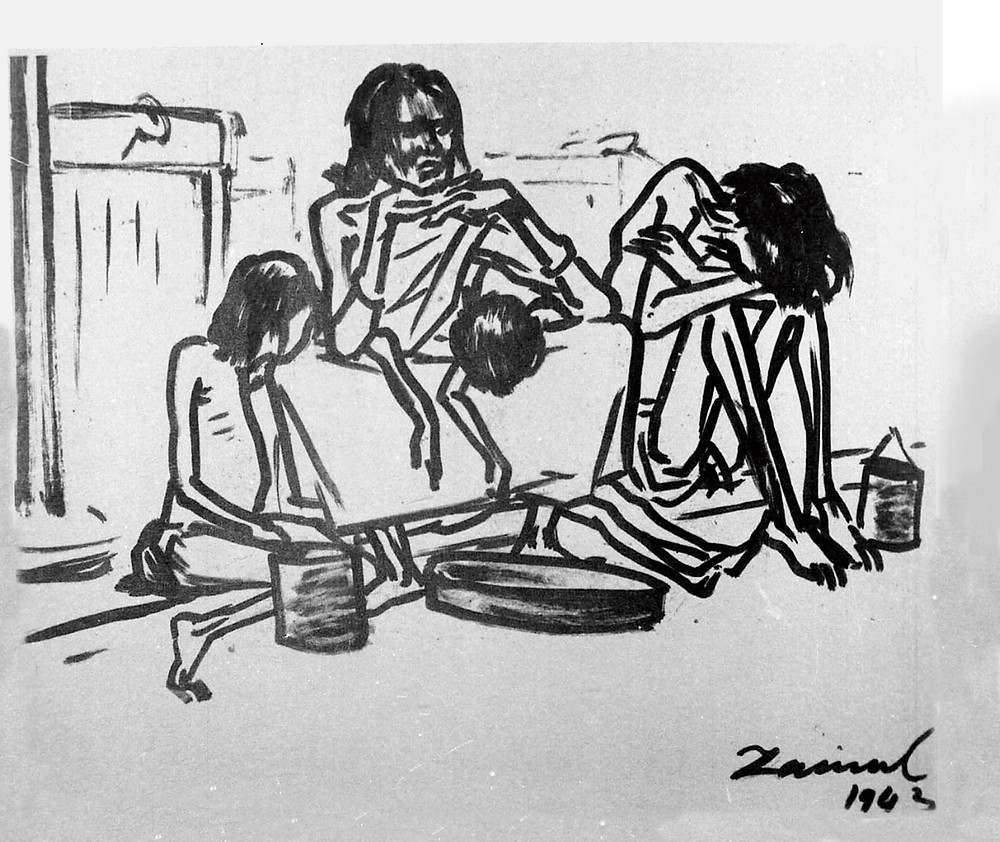 A sketch from Zainul Abedin's 'Famine' series