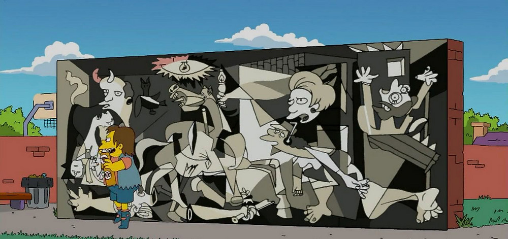 The Simpsons' version of Picasso's 'Guernica'