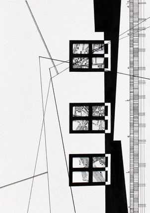Experiment Lines 2, Pen & ink on paper, 2012