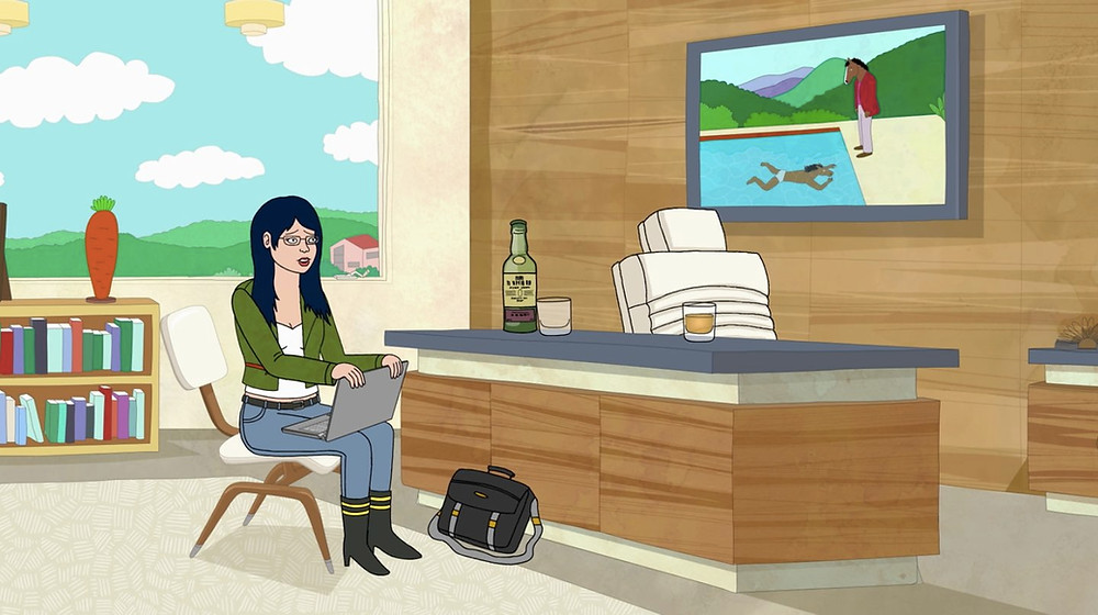David Hockney reinterpreted in Bojack Horseman