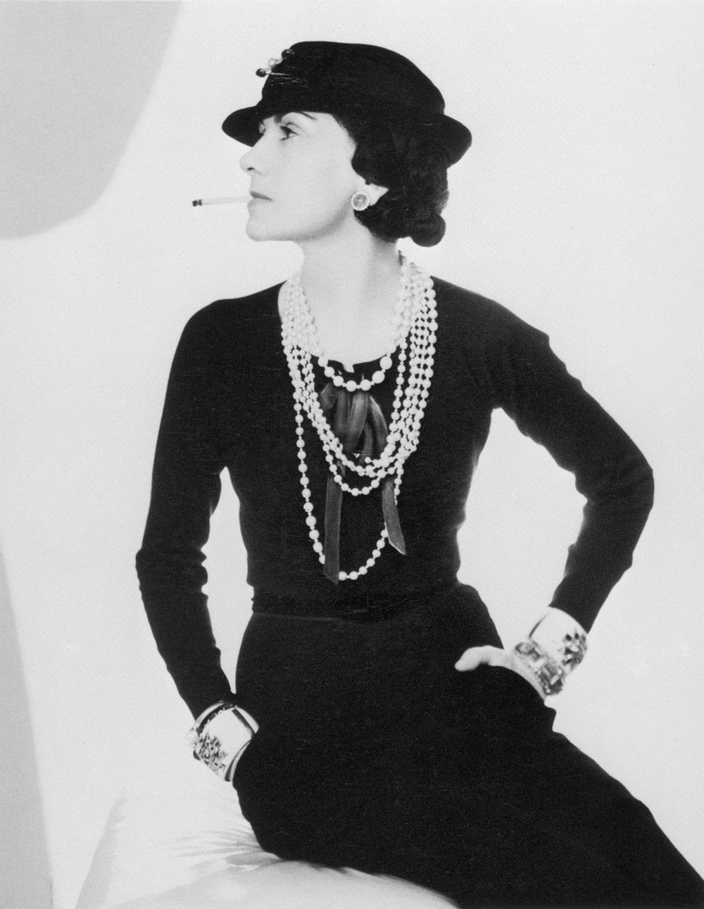Coco Chanel in the first LBD  Photo Credit: MarieClaire Magazine
