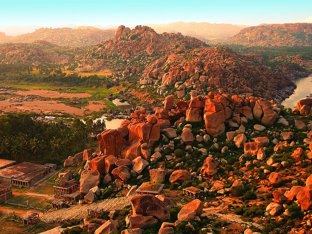 View from Matanga Hill, Hampi Ruins, Image credits: Sunil Shinde Flickr