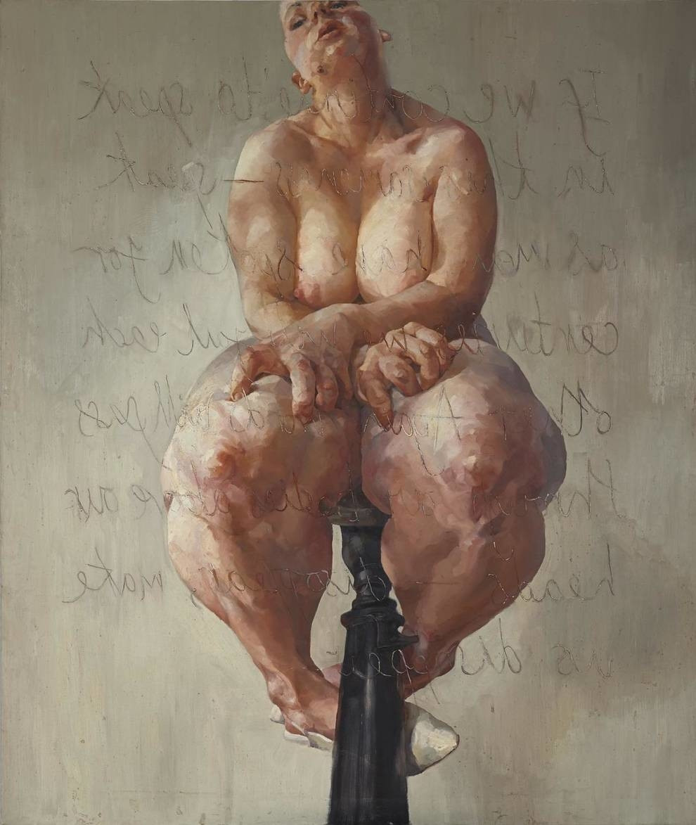 'Propped' by Jenny Saville, most expensive painting sold by living female artist