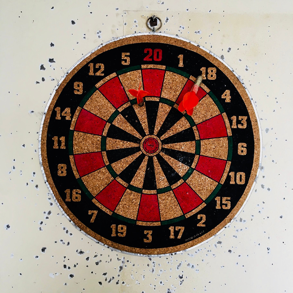 The Art Fervour team is a talented bunch but not when it comes to darts