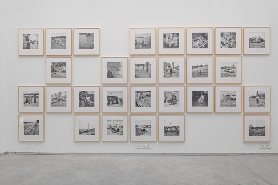 Installation view of Sohrab Hura's collection of photos titled 'The Levee', Image credits: Experimenter