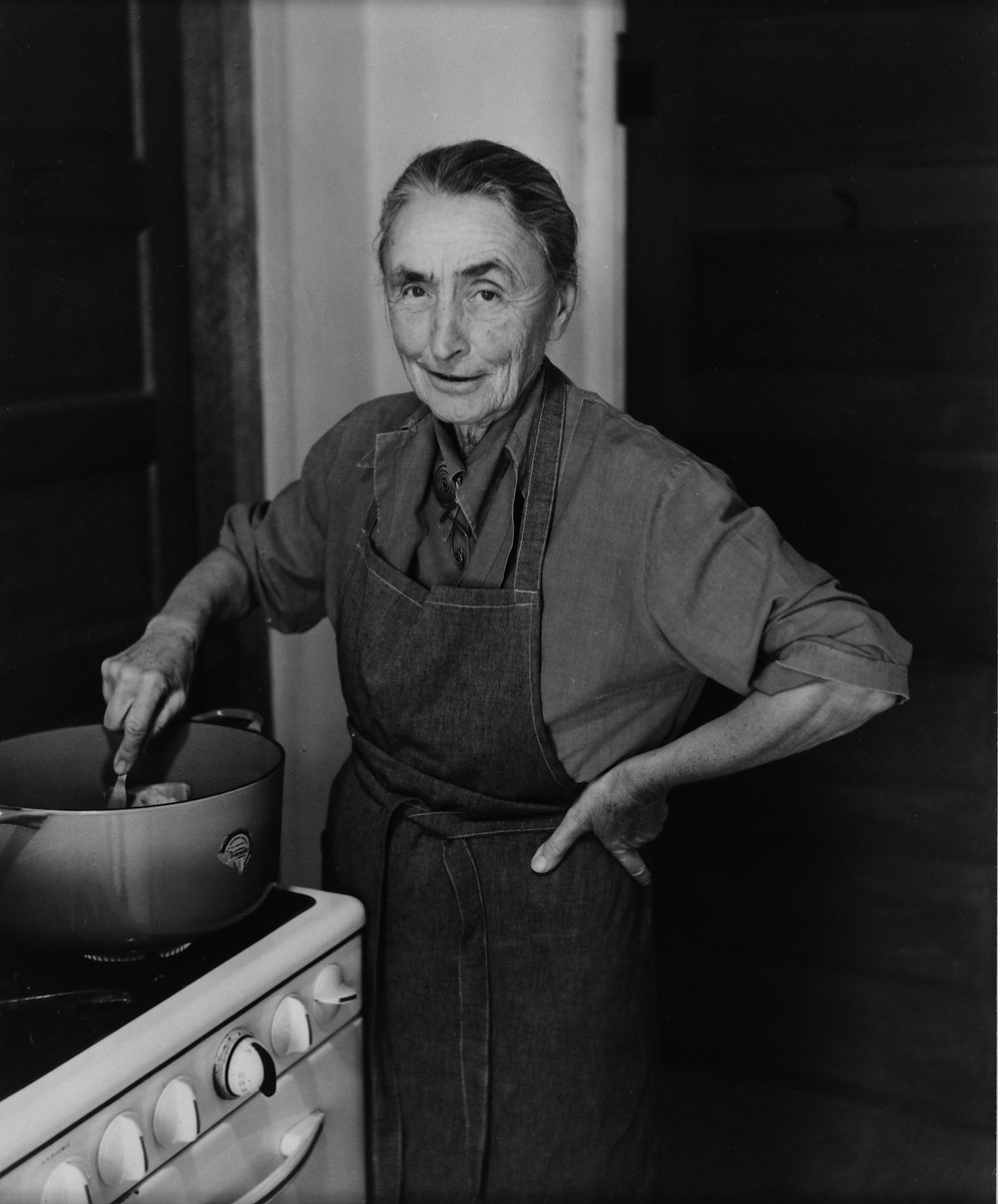 Georgia O'Keeffe cooking  Courtesy- The New Yorker