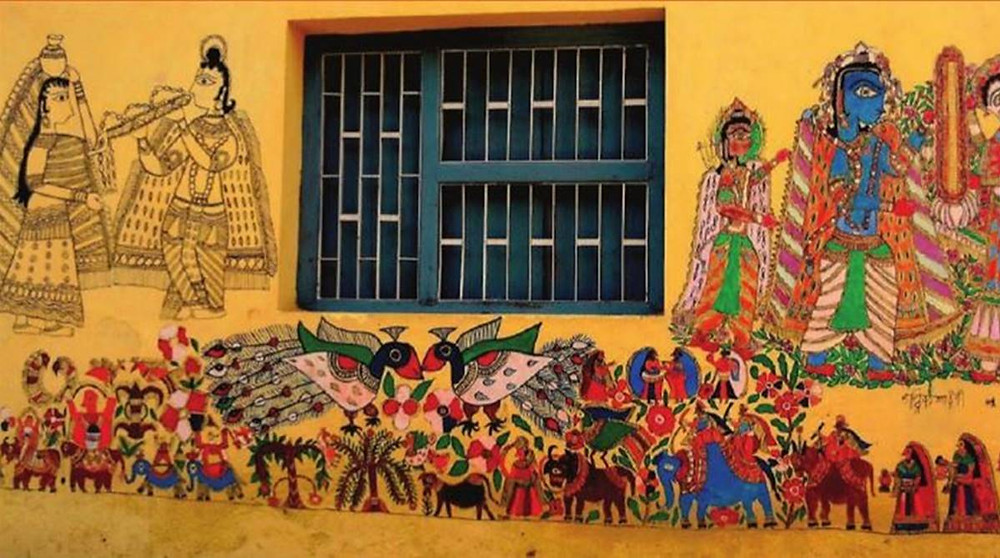 Madhubani wall paintings