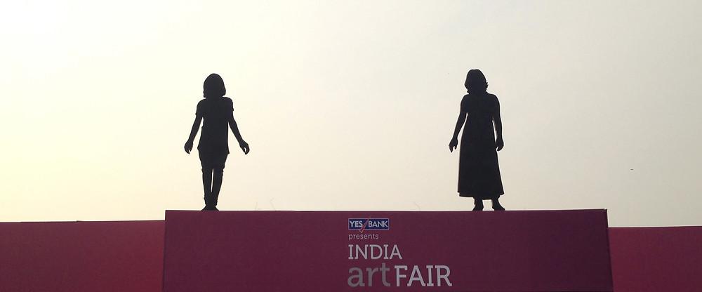 Leena Kejriwal's installation at the India Art Fair 2014